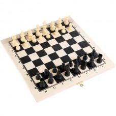 Игра настольная шахматы+нарды (дерево) 14*28см в пак. в кор.100шт