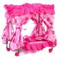 Кровать для кукол с балдахином на колесах 3 цвета