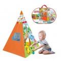 """Игровой домик-палатка """"Складной вигвам"""", размер палатки: 100*100*140 см. в сумочке 62*41*7 см."""