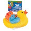 Набор игрушек для купания, BONDIBON, Утка с утятами, 3 шт