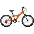 """20"""" Велосипед FORWARD DAKOTA 1,0"""" , 6 ск.  рост 10.5  (оранжевый/светло-зеленый) 2019-2020"""