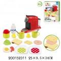 """Набор """"Бытовая техника"""" в комплекте: кофемашина, продукты и посуда, в коробке 25*9,5*34 см."""