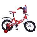 "14"" Велосипед LADY BUG A-тип, щиток на руле,багаж.,страх.кол. (красн/бел)"