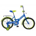 "14"" Велосипед MUSTANG GW-тип,багаж.,страх.кол.,звонок (синий/салат)"