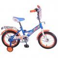 """14"""" Велосипед Фиксики GW-тип,багаж.,страх.кол.,звонок,бутил (синий/оранж)"""