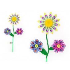 """Ветерок """"STAR Team"""" 6 цветов, диаметр лепестка 15 см, второго лепестка 10 см, высота 59 см, палка 26"""