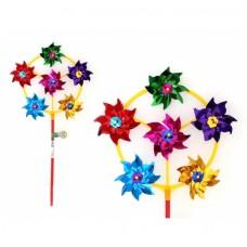 """Ветерок """"STAR Team"""" диаметр лепестка 7 см, высота 43 см, палка 28 см"""