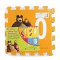 """Коврик-пазл """"Маша и медведь"""" c вырез. цифрами 10шт."""