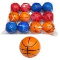 Мяч 6,3см, Баскетбол, полиуретан, в ассорт. в пак. уп-12шт в кор.30уп