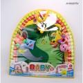 Коврик детский мягкий с погремушками в сумке в кор.36шт