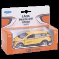 *Игрушка модель машины 1:34-39 LADA VESTA SW CROSS  такси