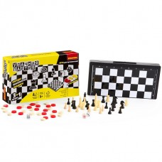 Удачная партия Бондибон BOX 3в1 20см. Нарды,Шашки,Шахматы арт. 3831