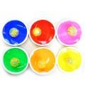 Игра с ловушкой, 2 тарелки+шарик со светом на присоске, цвет в ассорт.