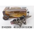 Крокодил р/у, в комплекте: пульт управления, ходит двигая головой и хвостом, светятся