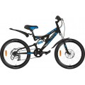 """20"""" Велосипед Novatrack SHARK сталь, диск. тормоз. 6ск, (черный) Microshift/Power"""