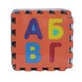 Коврик-пазл, с вынимающимися элементами (цифры+англ.буквы), материал - EVA, 10 сегм., р-р сегм. 31*3