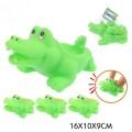 """Набор """"Крокодильчики-пищалки"""" для ванны, 4 штуки в сетке 16*10*9 см."""