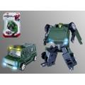 Робот-машина, трансформер из металла, блистер 15*4*23 см.