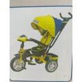 Велосипед 3х  фара, со св/звук, повор (желт)
