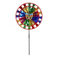 Ветерок,палочка50cм+ внешний круг 38 см и внутренний круг 28см, микс,пластик блестящий,в наборе 3шт