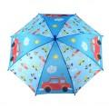 """Зонт детский, 50cм, """"Машинки"""", в комплекте свисток, ткань полиэстер"""