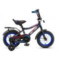 """12"""" Велосипед ONIX -M12-5 (черно-синий) багажник, длинное крыло"""