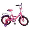 "14"" Велосипед MUSTANG A-тип,багаж.,страх.кол.,звонок (роз/фиолет)"