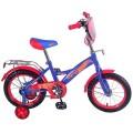 "14"" Велосипед HOT WHEELS GM-тип,щиток,багаж.,страх.кол.,звонок,бутил (синий/красн)"