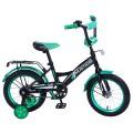 "14"" Велосипед Mustang черн/зелен"