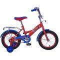 """14"""" Велосипед ЩП GW-тип,щиток на руле,багаж.,страх.кол.,(красн/голуб)"""