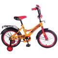 """16"""" Велосипед MUSTANG GW-тип,багаж.,страх.кол.,звонок бутил (желт/красн)"""