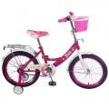 """18"""" Велосипед BARBIE A-тип, пер.корз.багаж., страх.кол.,звонок,бутил.(роз/бел)"""