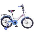"""18"""" Велосипед BMW  GW-тип,богаж.,страх.кол.,звонок,бутил (бел/син)"""