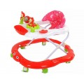Ходунки детские, игровая панель, мягкое сиденье, 6 колёс, цвета: красный, синий, зеленый, в/п 71*63*