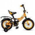 """12"""" Велосипед MAXXPRO-12-3 (оранжево-черный) багажник, длинное крыло"""