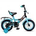 """12"""" Велосипед MAXXPRO-12-4 (лазурно-черный) багажник, длинное крыло"""