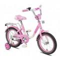 """12"""" Велосипед SOFIA - 12-5 (бело-розовый) багажник, длинное крыло"""