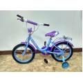 """12"""" Велосипед SOFIA - 12-3 (бирюзово-сиреневый) багажник, длинное крыло"""
