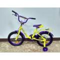 """12"""" Велосипед SOFIA - 12-4 (желто-фиолетовый) багажник, длинное крыло"""
