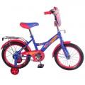 "16"" Велосипед HOT WHEELS GM-тип,щиток,багаж.,страх.кол.,звонок,бутил (синий/красн)"