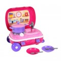 Кухня в чемодане с набором посуды розовая (Ор)